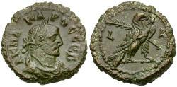 Ancient Coins - Carus (AD 282-283). Egypt. Alexandria Billon Tetradrachm / Eagle