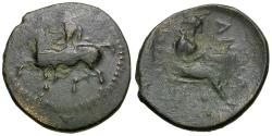 Ancient Coins - Thessaly. Pelinna Æ15 / Mantho