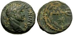 Ancient Coins - Elagabalus, Syria, Seleucia and Pieria, Antioch Æ15 / Wreath