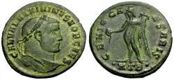Ancient Coins - VF/VF Maximinus II as Caesar Æ Follis / Genius