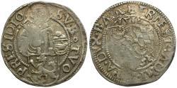 World Coins - Germany. Passau. Ernst von Bayern (1517-1540) AR Batzen / St. Stephen