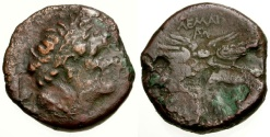 Ancient Coins - gF+/F Egypt, Cyrenaica under Ptolemy II Æ22, Issued by Magas in Revolt