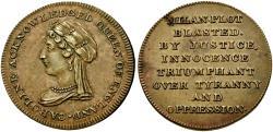 World Coins - British Medals. Hanover. Caroline of Bruswick. Queen Consort (1820-1821) Æ Medal