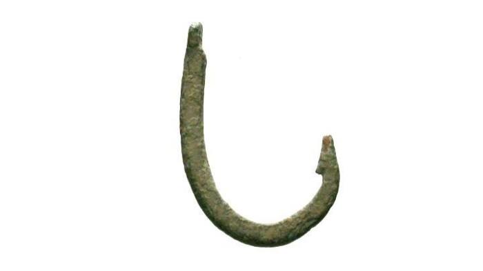 Ancient Coins - Roman Era Bronze Fish Hook