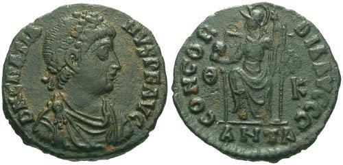 Ancient Coins - aVF/VF Gratian AE3 / Roma