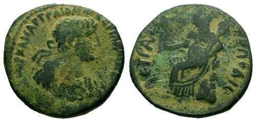 Ancient Coins - gF/gF Hadrian Provincial Bronze Petra Rare
