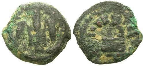 Ancient Coins - aVF/aVF Pontius Pilate Prutah / Barley & Simpulum