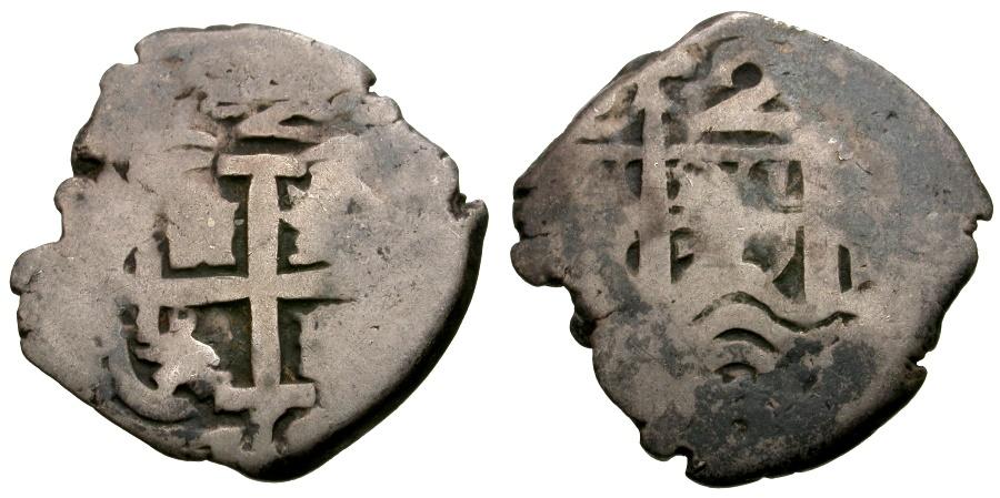Ancient Coins - Bolivia.  Carlos III. Potosi Mint AR Cob 2 Reales