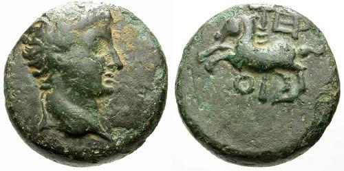 Ancient Coins - aVF/aVF Tiberius AE18 Termessos Minor / Horse