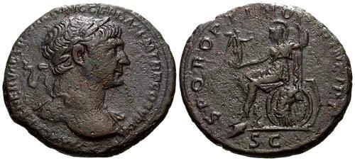 Ancient Coins - aVF/aVF Trajan AS / Roma