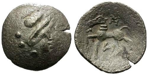 Ancient Coins - VF/VF Danubian Celts AR Tetradrachm / Zeus / Horse