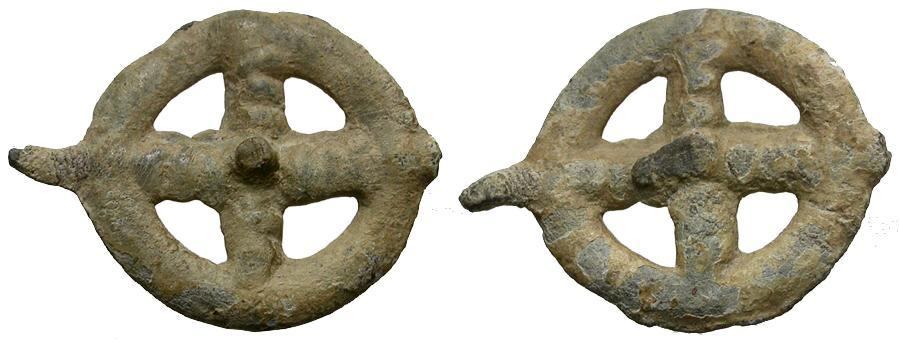 Ancient Coins - Celtic Potin Wheel Money