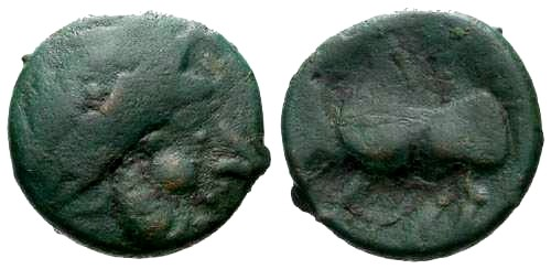 Ancient Coins - VF/aVF Scarce Celtic Bronze Tetradrachm Imitating Philip