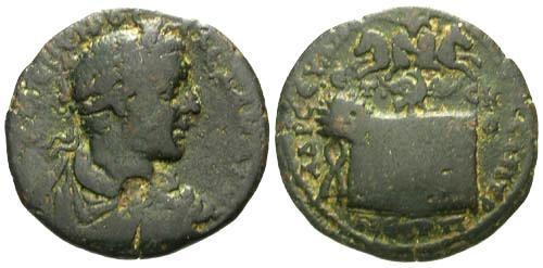 Ancient Coins - VF/VF Severus Alexander AE 32 Amasia in Pontus / Altar and Quadriga