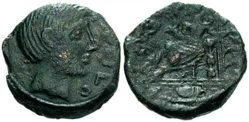 Ancient Coins - VF/VF Carnutes Tribe Bronze / PIXTILOS