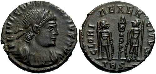 Ancient Coins - FDC / As Struck Constantius II AE4 / Gloria Rev R2