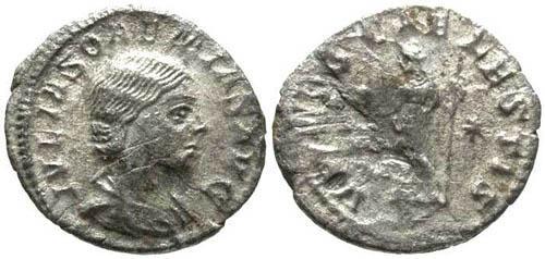 Ancient Coins - aVF/FJulia Soaemias AR Denarius