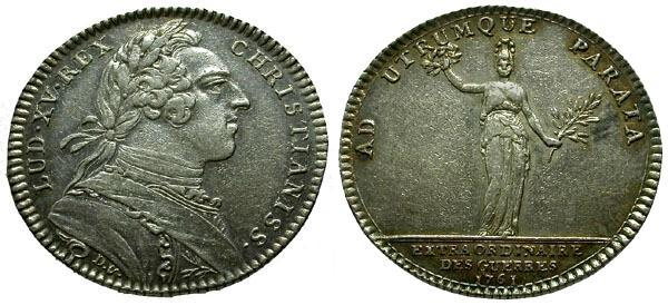 Ancient Coins - EF/EF France, Louis XV AR Medal