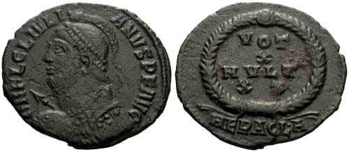 Ancient Coins - aVF/VF Julian II The Apostate Votive