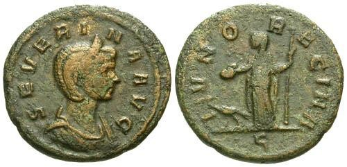 Ancient Coins - F+/F Severina AS / Juno