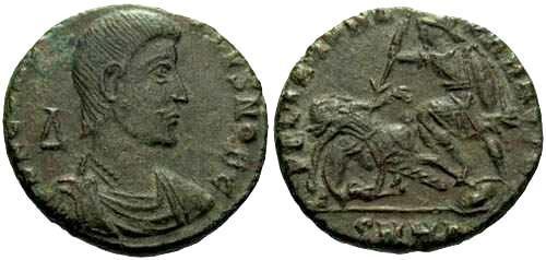 Ancient Coins - VF/VF Constantius Gallus AE2 / Fel Temp