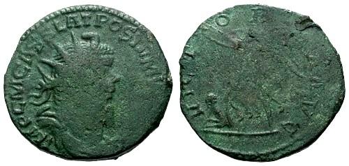 Ancient Coins - F/VG Postumus AE Sestertius / Victory