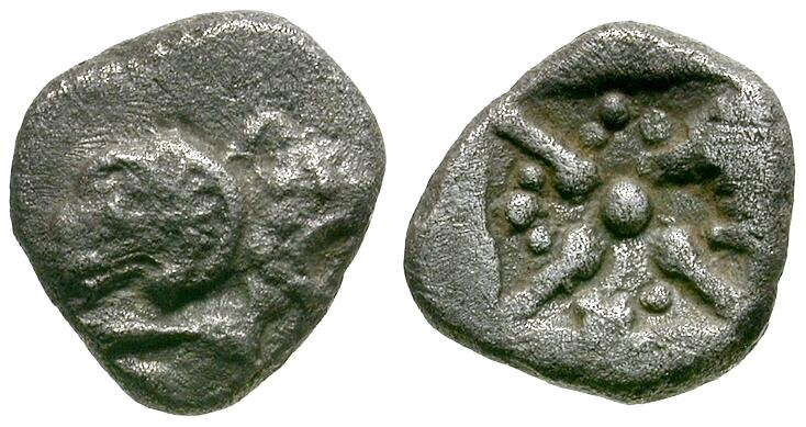 Ancient Coins - Asia Minor. Uncertain AR Obol