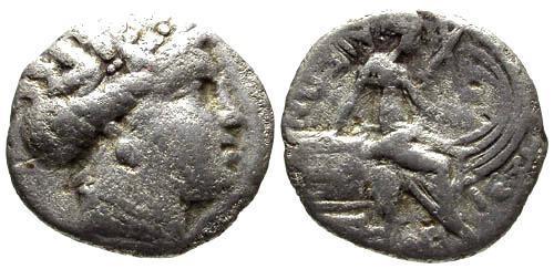 Ancient Coins - gF/F Histiaia Euboia AR Tetrobol / Nymph