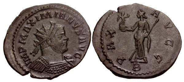 Ancient Coins - VF/VF Maximianus Æ Antoninianus / Pax