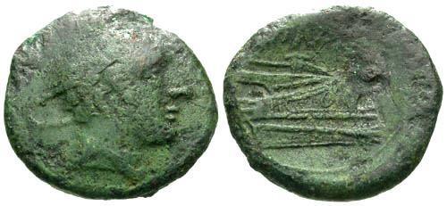Ancient Coins - gF/gF Roman Republic AE Semuncia