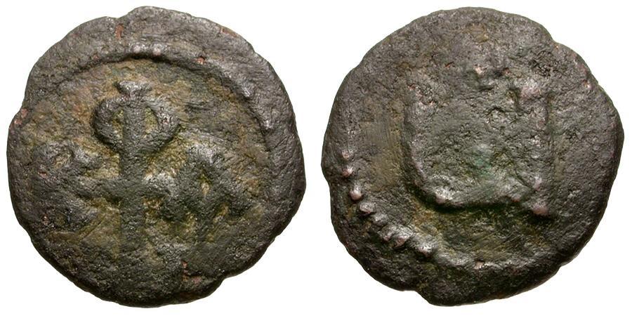 Ancient Coins - Byzantine Empire. Phocas Æ Pentanummium