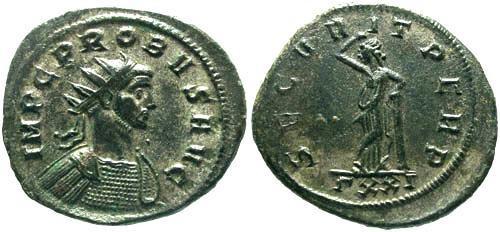 Ancient Coins - EF/EF Probus Silvered Antoninianus / Securitas
