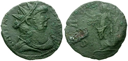 Ancient Coins - VF/VG Carausius AE Antoninanus / Salus