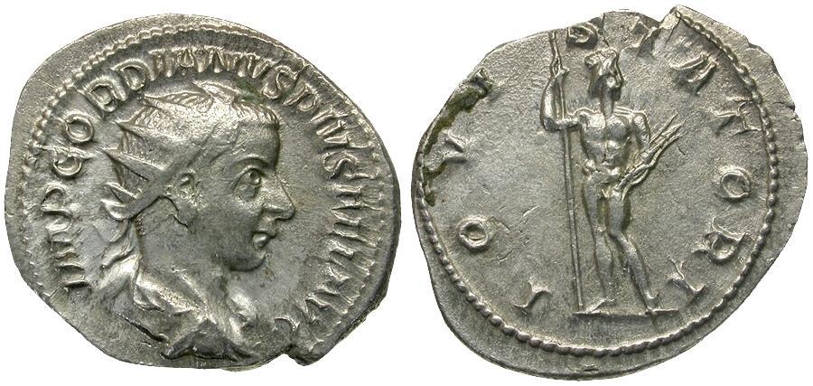 Ancient Coins - Gordian III (AD 238-244) AR Antoninianus / Jupiter