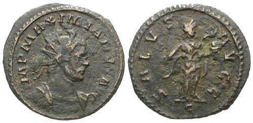 Ancient Coins - F/F Maximianus AE Antoninanus / Salus