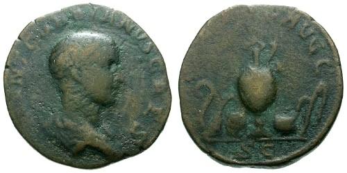 Ancient Coins - F/F Gordian III as Caesar under Balbinus and Pupienus / Sacrificial implements