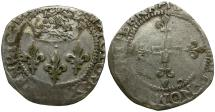 World Coins - France. Henri III AR Double Sol Parisis
