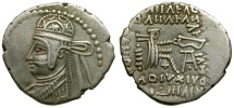 Ancient Coins - Kings of Parthia. Parthamaspates AR Drachm / Archer