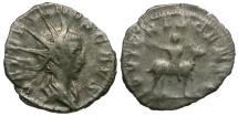 Ancient Coins - Valerian II AR Antoninianus / Jupiter riding Goat