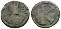 Ancient Coins - Byzantine Empire.  Anastasius I Æ Half Follis