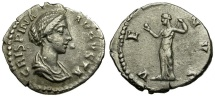Ancient Coins - Crispina AR Denarius / Venus