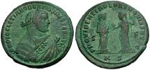Ancient Coins - Diocletian. Post-Abdication Æ Follis / Providentia and Quies