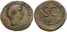 Ancient Coins - Augustus. L. Naevius Surdinus moneyer Æ AS