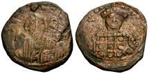 Ancient Coins - gF+/VF Byzantine Empire, Michael VII, Ducas Æ follis / Bust of Christ