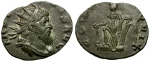 Ancient Coins - Aureolus AR Antoninianus in the name of Postumus / Mediolanum Mint