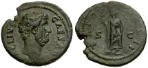 Ancient Coins - Aelius Caesar Æ AS / Spes