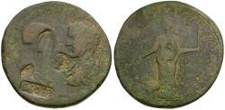 Ancient Coins - Caracalla (AD 198-217) with Geta, as Caesar (AD 198-209). Caria. Stratonikeia Æ37 Medaillon / Damnatio Memoriae