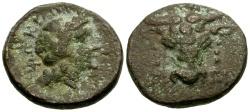 Ancient Coins - aVF/aVF Phokis, Elateia Æ15 / Bucranium