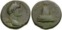 Ancient Coins - Antoninus Pius (AD 138-161). Commagene. Zeugma Æ23 / Temple with Sacred Grove
