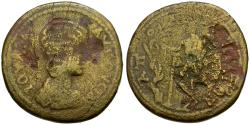 Ancient Coins - Julia Domna (AD 193-217). Lydia. Apollonis Æ30 / Apollo